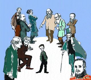 Image result for русские классики литературы карикатура