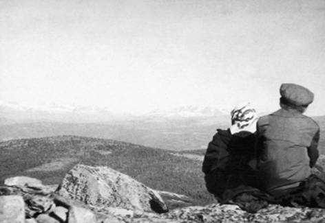 Григорий Померанц с женой Зинаидой Миркиной в Норвегии