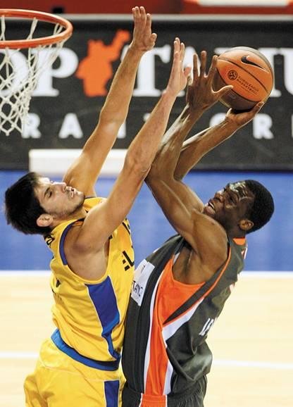 Баскетбольный матч евролиги ле ман